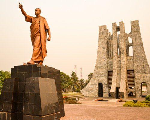 Mausoléu de Kwame Nkrumah fonte: https://www.allinghana.org/index.php/2018/10/26/kwame-nkrumah-mausoleum/